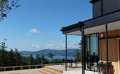 写真:テラスから眺める風景