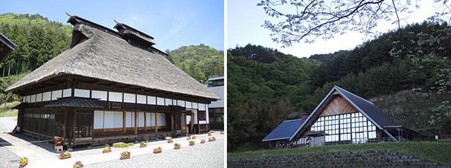 写真:気仙大工左官伝承館と杉の家